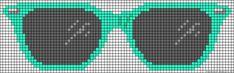 Sunglasses perler bead pattern
