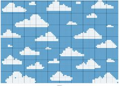 Stitch Fiddle is an online crochet, knitting and cross stitch pattern maker. Cross Stitch Pattern Maker, Cross Stitch Patterns, Crochet Blanket Patterns, Crochet Stitches, Knitting Charts, Knitting Patterns, Punto Fair Isle, Clouds Pattern, Pixel Pattern
