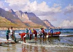 Resultado de imagem para roelof rossouw South African Artists, Watercolour Painting, Oil Paintings, Boats, Art Photography, Landscape, Google Search, Projects, Ideas