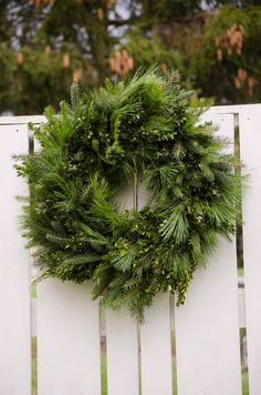 Large Greenery Wreath 26 wreath Christmas by TheBlaithinBlairShop - <3<3<3