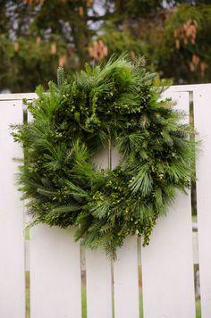 Large Greenery Wreath 26 wreath Christmas by TheBlaithinBlairShop - <3<3<3