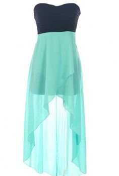 Sweetheart High-Low Dress Love these colors