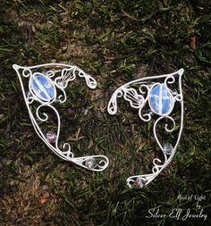Pool of Light Elf Ears by SilverElfJewelry on Etsy, $48.00