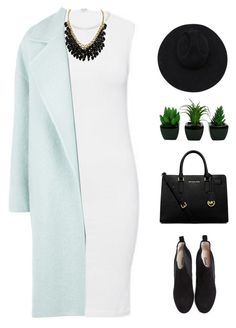 """Untitled #960"" by theonlynewgirl ❤ liked on Polyvore featuring Ganni, Gladys Tamez Millinery, Wolford, MaxMara and MICHAEL Michael Kors"