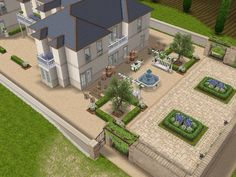 House 108 French Chateau full view #sims #simsfreeplay #simshousedesign