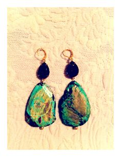A pair of Rachel's earrings...vintage stone and turquoise
