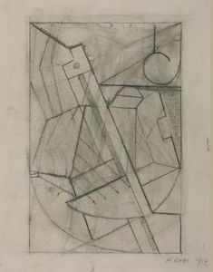 Naum Gabo 'Sketch for Relief Construction', 1917 The Work of Naum Gabo © Nina & Graham Williams/Tate, London 2014 Sculpture Head, Sculptures, Russian Constructivism, New Media Art, Great Paintings, Drawing Artist, Elements Of Art, Picasso, Designer