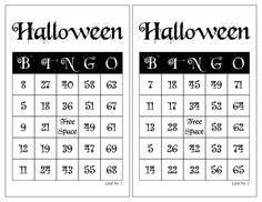 Halloween Bingo Cards, 1000 cards, 2 per page, immediate pdf download Halloween Bingo Cards, Custom Bingo Cards, Bingo Calls, Bingo Patterns, Free Space, I Am Game, Paper Size, I Shop, Card Making