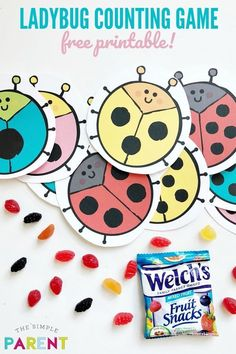 Number worksheets for kindergarten are a fun way to practice skills and get ready for back to school! Print free ladybug worksheets to practice math with fun activities! Check out how we use Welch's fruit snacks to practice numbers! Printable Preschool Worksheets, Number Worksheets, Kindergarten Worksheets, Worksheets For Kids, Rainy Day Activities For Kids, Kids Learning Activities, Summer Activities For Kids, Preschool Centers, Free Preschool