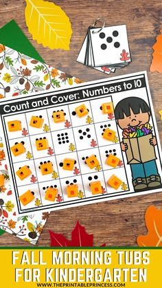 Make mornings SO MUCH easier with these Fall Morning Tubs for Kindergarten. These 22 hands-on literacy and math activities provide a fun and meaningful way to start the day. Skills include: letter recognition, beginning sounds, counting, ten frames, makin Kindergarten Morning Work, Kindergarten Math Activities, Alphabet Activities, Preschool Activities, Ten Frame Activities, Preschool Centers, Numbers Kindergarten, Preschool Printables, Halloween Math