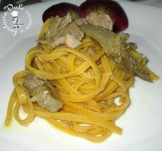 Fettuccine con tonno e carciofi,ricetta primo piatto