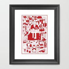 Redrum Framed Art Print by Derek Eads - $32.00