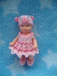 dress panties shoe hat handmade crochet clothes barbie baby krissy 2.5 doll toys | Dolls & Bears, Dolls, Barbie Contemporary (1973-Now) | eBay!