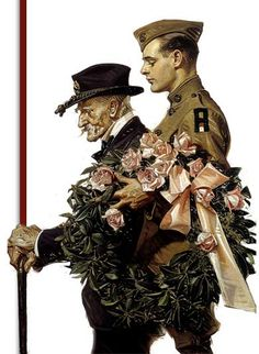 Image result for norman rockwell on veterans day