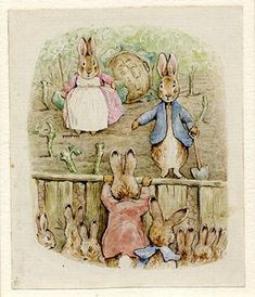 :: Sweet Illustrated Storytime :: Illustration by Beatrix Potter :: The Tale of the Flopsy Bunnies, 1909