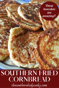 Easy, delicious cornbread or hoecakes that go with any meal. Easy, delicious cornbread or hoecakes that go with any meal. Fried Cornbread, Cornbread Cake, Moist Cornbread, Buttermilk Cornbread, Southern Cornbread Recipe, Best Cornbread Recipe, Homemade Cornbread, Southern Recipes, Southern Meals