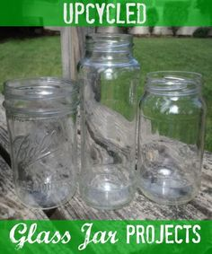 DIY Upcycled Glass Jar Projects. Fun crafts and decor ideas.