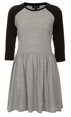 black and grey t-shirt dress Topshop