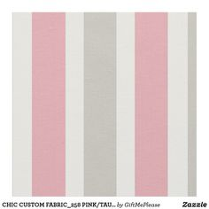 CHIC CUSTOM FABRIC_258 PINK/TAUPE/WHITE STRIPES FABRIC