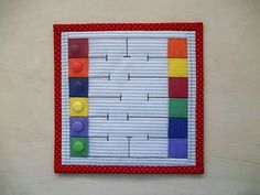 Buttons would move through the maze to get from left to right Diy Quiet Books, Baby Quiet Book, Felt Quiet Books, Quiet Book Templates, Quiet Book Patterns, Silent Book, Sensory Book, Fidget Quilt, Busy Book