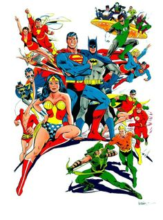 Classic DC Comics Promo Art by Jose Luis Garcia Lopez Marvel Dc Comics, Dc Comics Superheroes, Dc Comics Characters, Dc Comics Art, Dc Comic Books, Comic Book Artists, Comic Book Heroes, Comic Art, Gi Joe