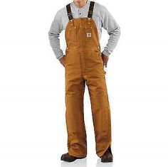 a0be6e89046 Other Uniforms and Work Clothing 163528  Carhartt Men S Quilt Lined Duck  Bib Overalls R02