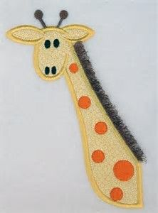 Simple Giraffe Outline Cute Giraffe Clipart Applique
