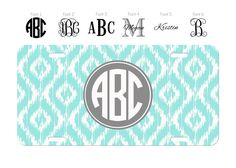 Custom Personalized License Plate Car Tag Preppy by VinettaMae