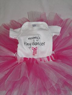 Mommy's Tiny Dancer Outfit by BooyahDesigns4u on Etsy, $30.00