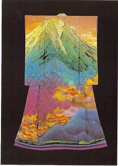 itchiku #3 by Arno Drucker | Mount Fuji kimono by Itchiku Kubota | Flickr - Photo Sharing!