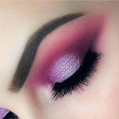 Magenta purple eye makeup