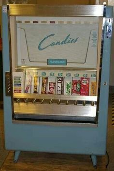Every family had an incident where a sibling got their hand stuck trying to reach into this machine when mom said no candy. LOL!