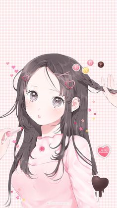 Kawaii Wallpaper Illustration Girl Cute Cartoon Kawaii Drawings Cartoon Drawings Manga