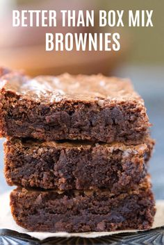 This easy homemade brownie recipe has all the convenience of a box mix but with tons of rich, fudgy flavor. Savor the taste of vanilla and brown sugar as you bite into this sweet treat. If you know cocoa powder irritates your bladder, try substituting white chocolate for a more bladder-friendly option.