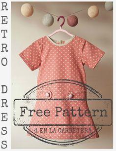 Retro Dress--pattern size 5T