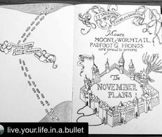#harrypotter #bujo #journal #page by @live.your.life.in.a.bullet