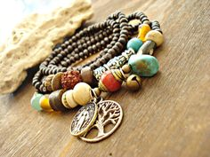 Yoga Bracelet  Yoga Jewellery  Boho Jewellery  by HandcraftedYoga, $42.00