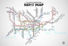London Underground Rent Map - Thrillist