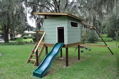 Luke designs and builds a mid century modern retro playhouse ... #playhousebuildingplans