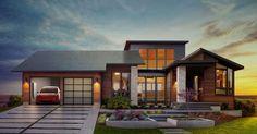 Toit solaire: Magnifique nouvelles pour l'industrie de l'énergie solaire et renouvelable.Le toit mis au point par Tesla et constitué de tuiles intégrant des