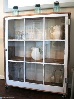 old windows ~ cabinet