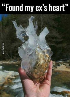 Found my ex's heart.