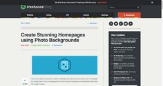 Create Stunning Homepages using Photo Backgrounds - Treehouse Blog