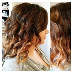 Warm chestnut and honey ombre by Jenny. #hair #haircut #hairstyle #haircolor #ombre #colormelt #sumerhair #wavyhair #curlyhair #hairinspiration #chestnut #honey