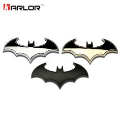 3D Cool Metal bat auto logo car styling car stickers metal batman badge emblem tail decal motorcycle car accessories automobiles #Affiliate