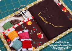 Quilted Needle Case with a spot for Scissors Tutorial