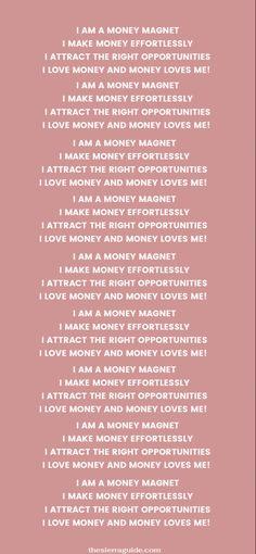 I am a Money Magnet! Wallpaper