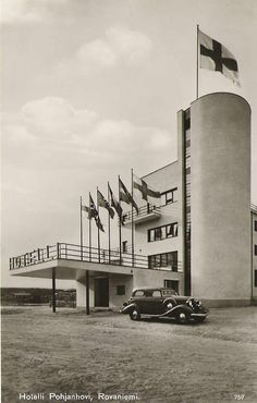 M. and P. Blomstedt, Pohjanhovi hotel, Rovaniemi, 1935. Destroyed by german soldiers in 1944.