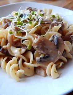 P&P  Pasta & Pilze- eine unschlagbare Kombination Pasta, Wednesday, Vegan Recipes, Spaghetti, War, Ethnic Recipes, Food, Fungi, Kochen