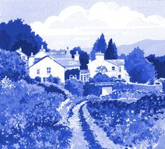 Troutbeck in Blue Windermere, Fine Art, Gallery, Artist, Blue, Roof Rack, Artists, Visual Arts